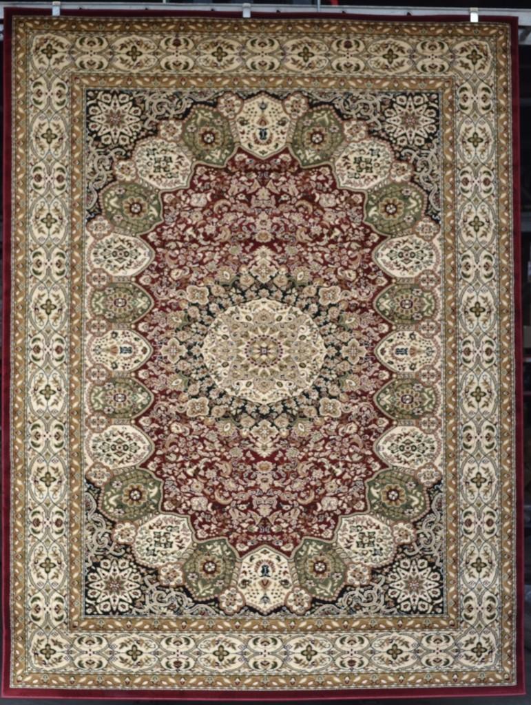 Burgundy Green Beige Black 8x10 Persian Carpet Area Rugs