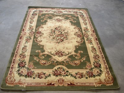 Sage Green Burgundy 5x7 Area Rugs Victorian Carpet Floral