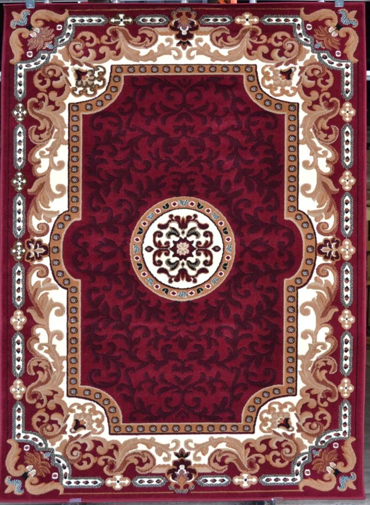 large burgundy black blue center piece 5x7 persian area rug carpet traditional ebay. Black Bedroom Furniture Sets. Home Design Ideas