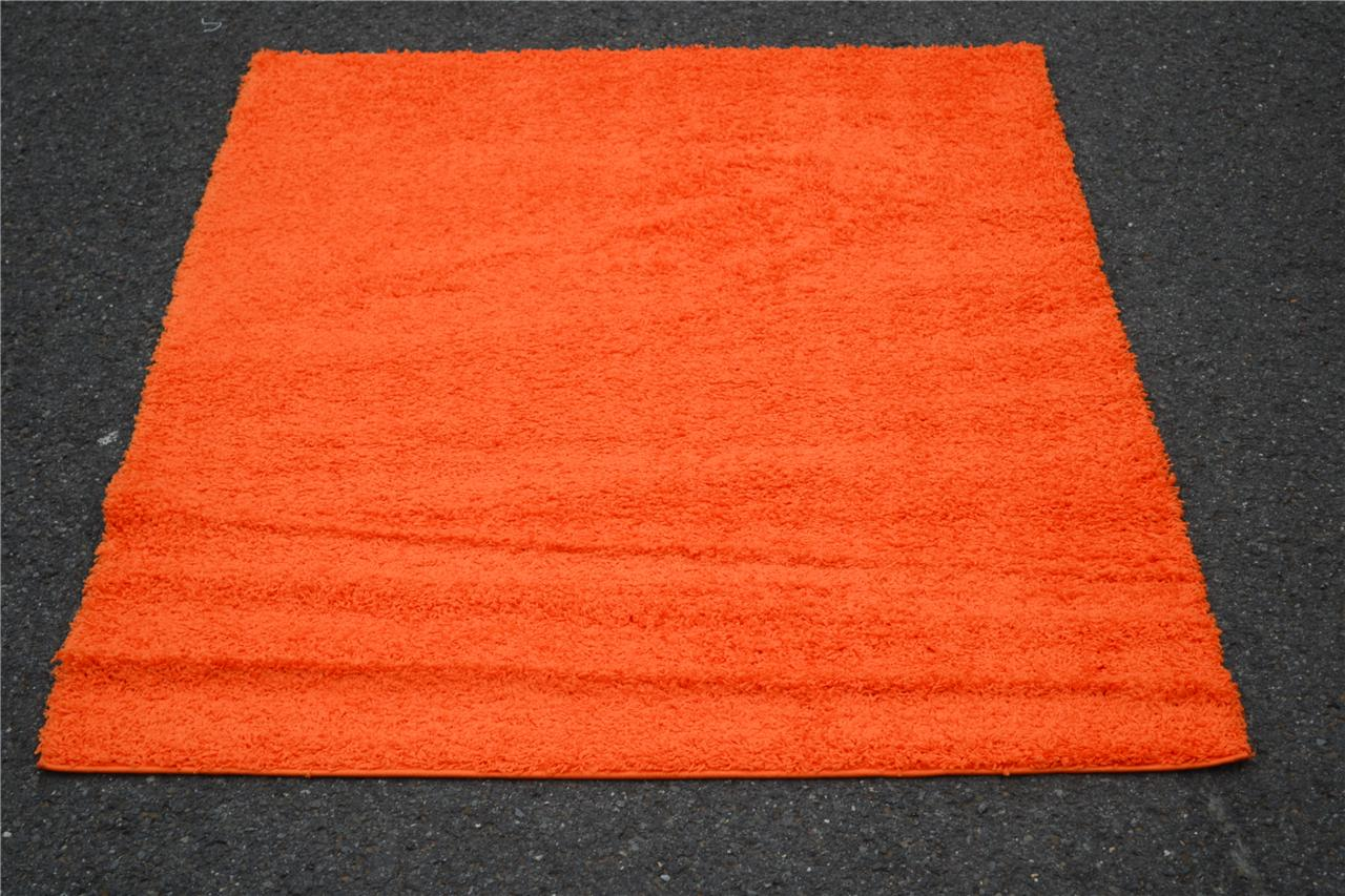 Shag contemporary area rug orange blue gray black brown for Red area rugs contemporary