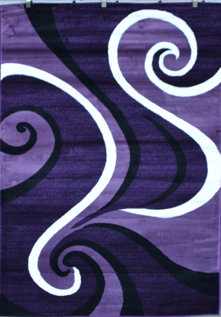 0327 red blue purple gray black modern area rug for Purple area rugs contemporary