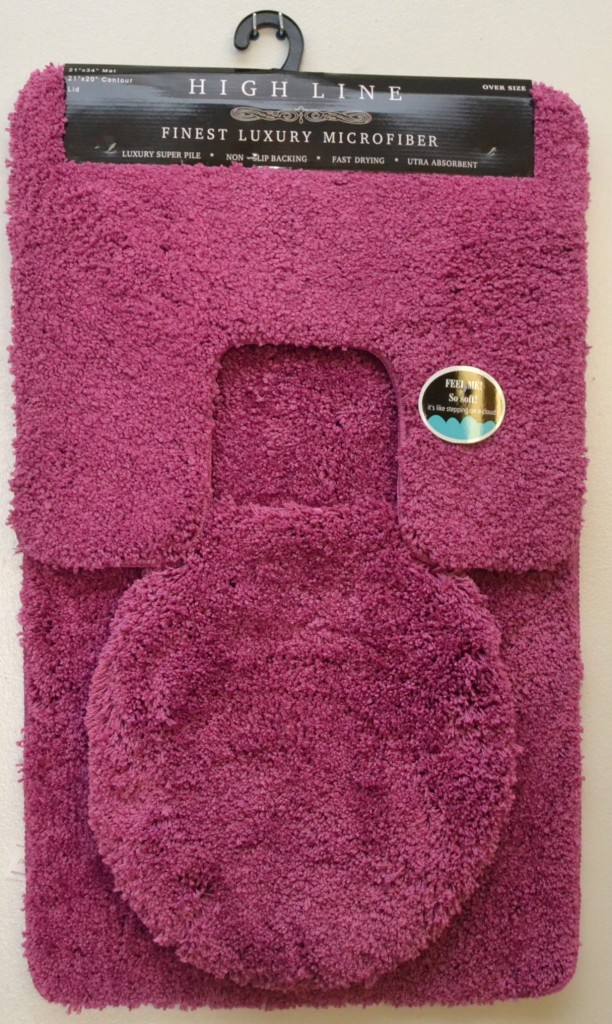 plush 3 pcs bathroom rug set high quality beige green hot pink gray mat new ebay. Black Bedroom Furniture Sets. Home Design Ideas