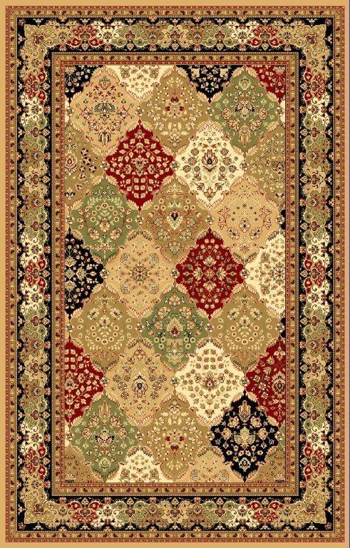 panal green beige burgundy oriental area rug