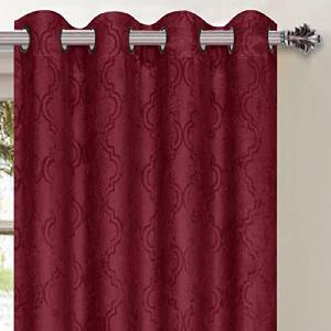 1 pcpatterned blackout curtains 54 w x 84 l taupe chocolate drapes window panels ebay. Black Bedroom Furniture Sets. Home Design Ideas