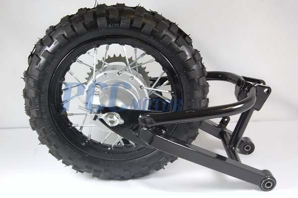 rear swingarm  wheel set  stock drum honda xr crf