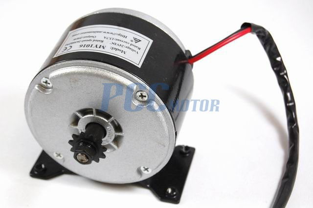 24 Volt 350 Watt Electric Motor with 15 Tooth Chain Sprocket for