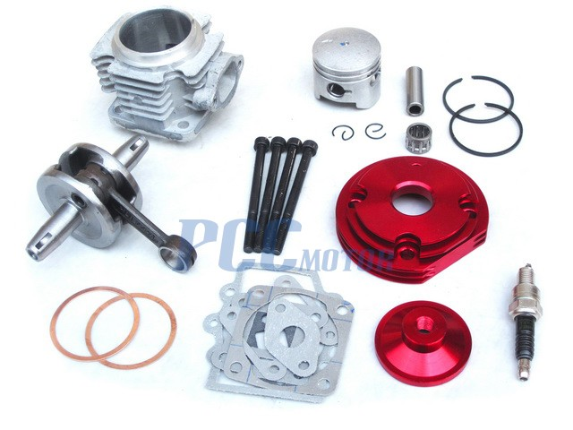 44mm big bore top end kit for atv pocket bike 49cc 2 stroke stage 2 red ck09r. Black Bedroom Furniture Sets. Home Design Ideas