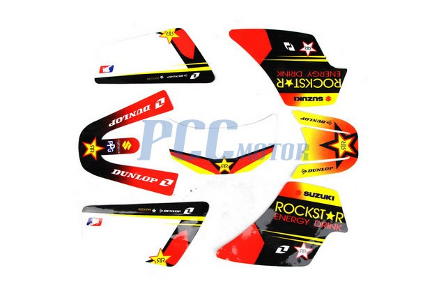 rockstar graphics decal stickers kit pw50 pw 50cc m de41 ebay