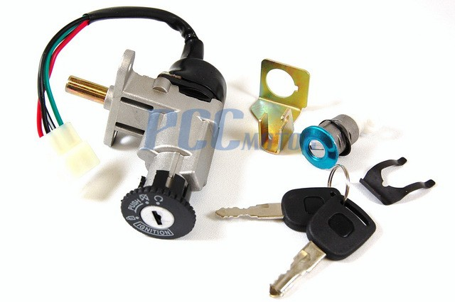 Ignition Switch Key Set Moped Scooter For 49 50cc Ks15