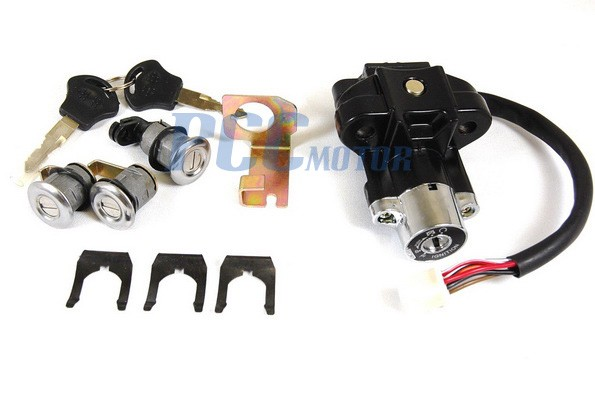 6 wire gy6 key ignition switch lock set scooters moped 150cc 250cc yy250t ks26