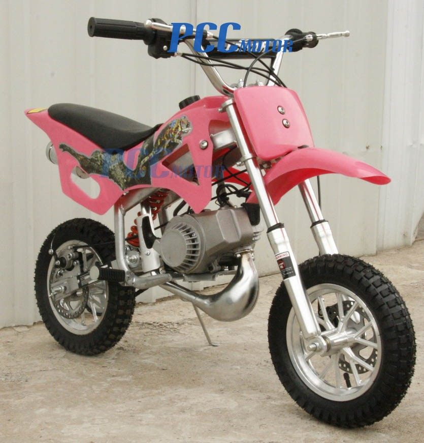 free shipping kids 49cc 2 stroke motor mini bike dirt pocket bike pink h db49a ebay. Black Bedroom Furniture Sets. Home Design Ideas