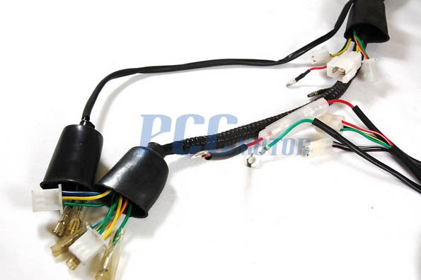 gy6 50cc wire harness wiring assembly scooter moped sunl roketa wh08