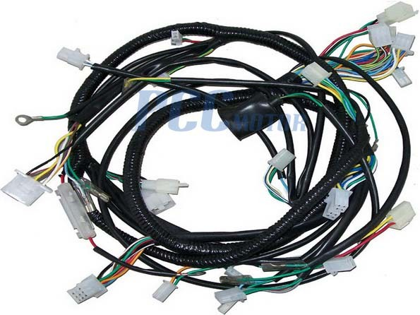 chinese gy6 250cc wire harness wiring assembly scooter roketa atv wiring harness