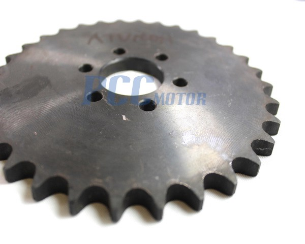 Go Kart Sprockets And Chains : Rear chain sprocket tooth t atv go kart mm