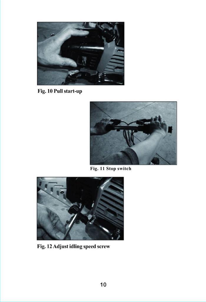 pocket bike instruction manual