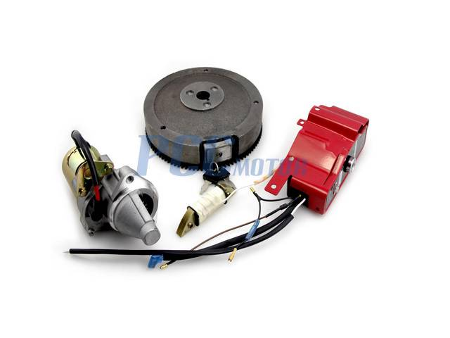 HONDA GX340 GX390 ELECTRIC START KIT STARTER MOTOR FLYWHEEL SWITCHpccmotor.com