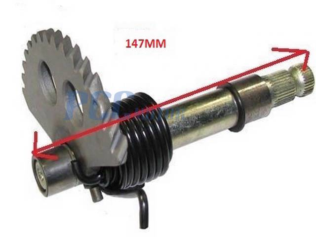 Spindle Shaft Gearbox : Gy cc scooter moped kick start gear shaft
