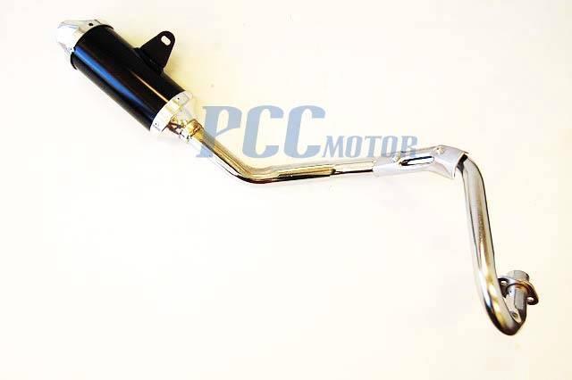 Black Exhaust Pipe Muffler Honda Twinspar Frame Coolster