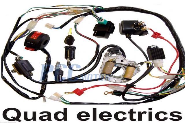 50 70 90 110CC ATV WIRE HARNESS WIRING CDI ASSEMBLY QUAD ...