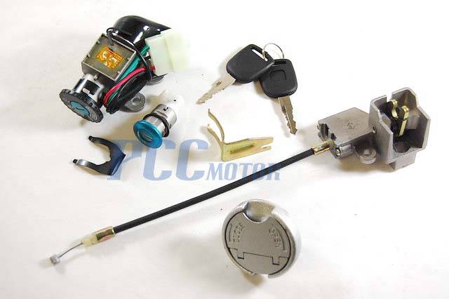 5 Wire Ignition Key Switch Lock System 49cc 50cc Scooter Moped