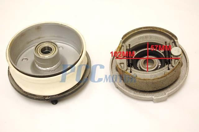 New Chinese Atv Quad 150 200cc Front Right Brake Shoe Drum