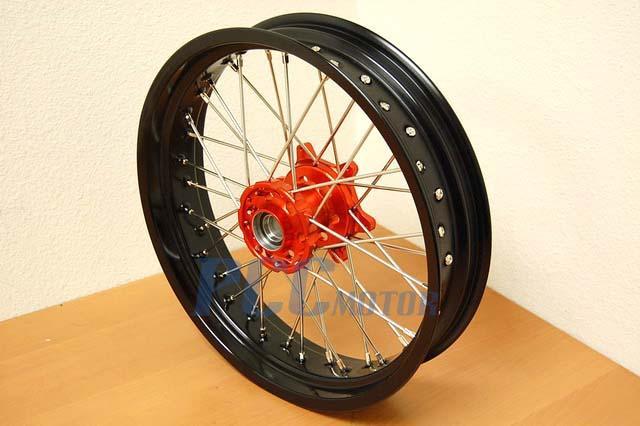 Ktm 690 Front  Rear 17 U0026quot   17 U0026quot  Supermoto Wheels Set Cush Hub Drive Orange Rmt08