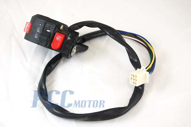 8 wires kill light starter switch atv honda quad 50 70 90