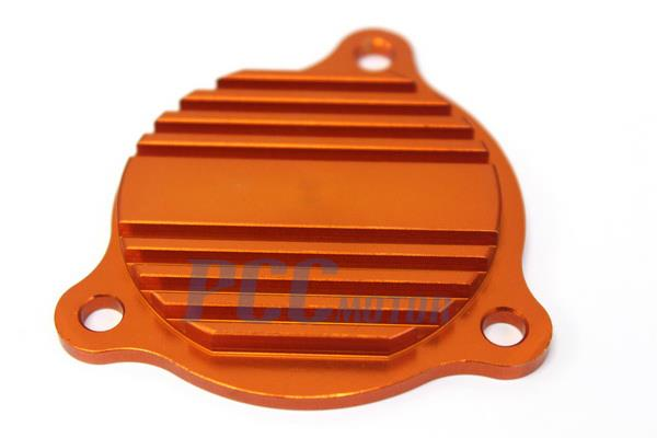 aluminum oil pump cover orange ktm 250 350 450 500 530 sxf