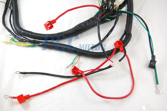 gy6 250cc wire harness wiring assembly scooter moped sunl roketa wh10