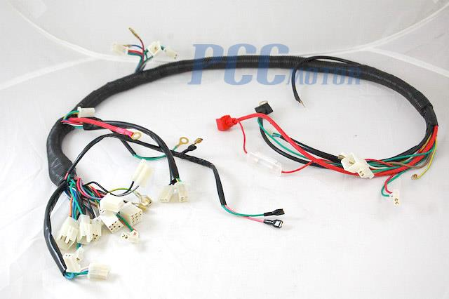 840304184_o chinese gy6 150cc wire harness wiring assembly scooter moped sunl chinese scooter wiring harness at gsmportal.co