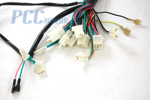 roketa wiring schematic chinese gy6 150cc wire harness wiring assembly scooter