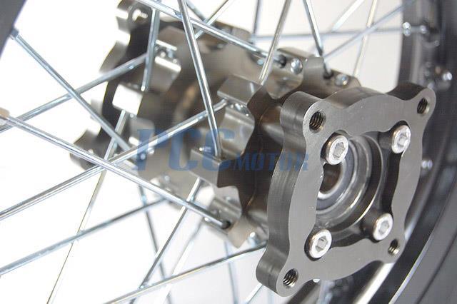 12 quot REAR RIM WHEEL TITANIUM COLOR CNC HUB with Innova Tire