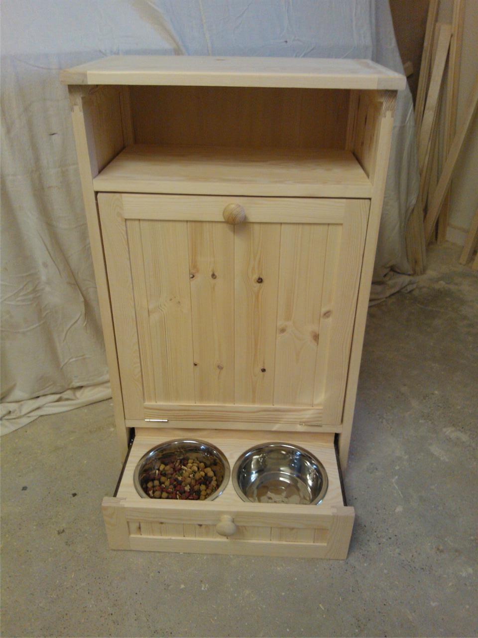 Pet Food Cabinet Storage Organizer Dog Cat Feeding