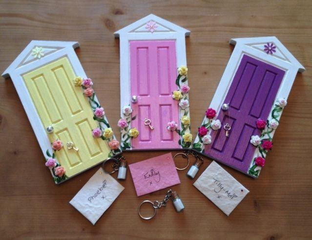 1 mdf wooden magical fairy hobbit doors blank craft for Wooden fairy doors to decorate
