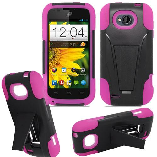 Phone Case For Virgin Mobile ZTE Awe N800 Silicone Corner Hard Cover wStand