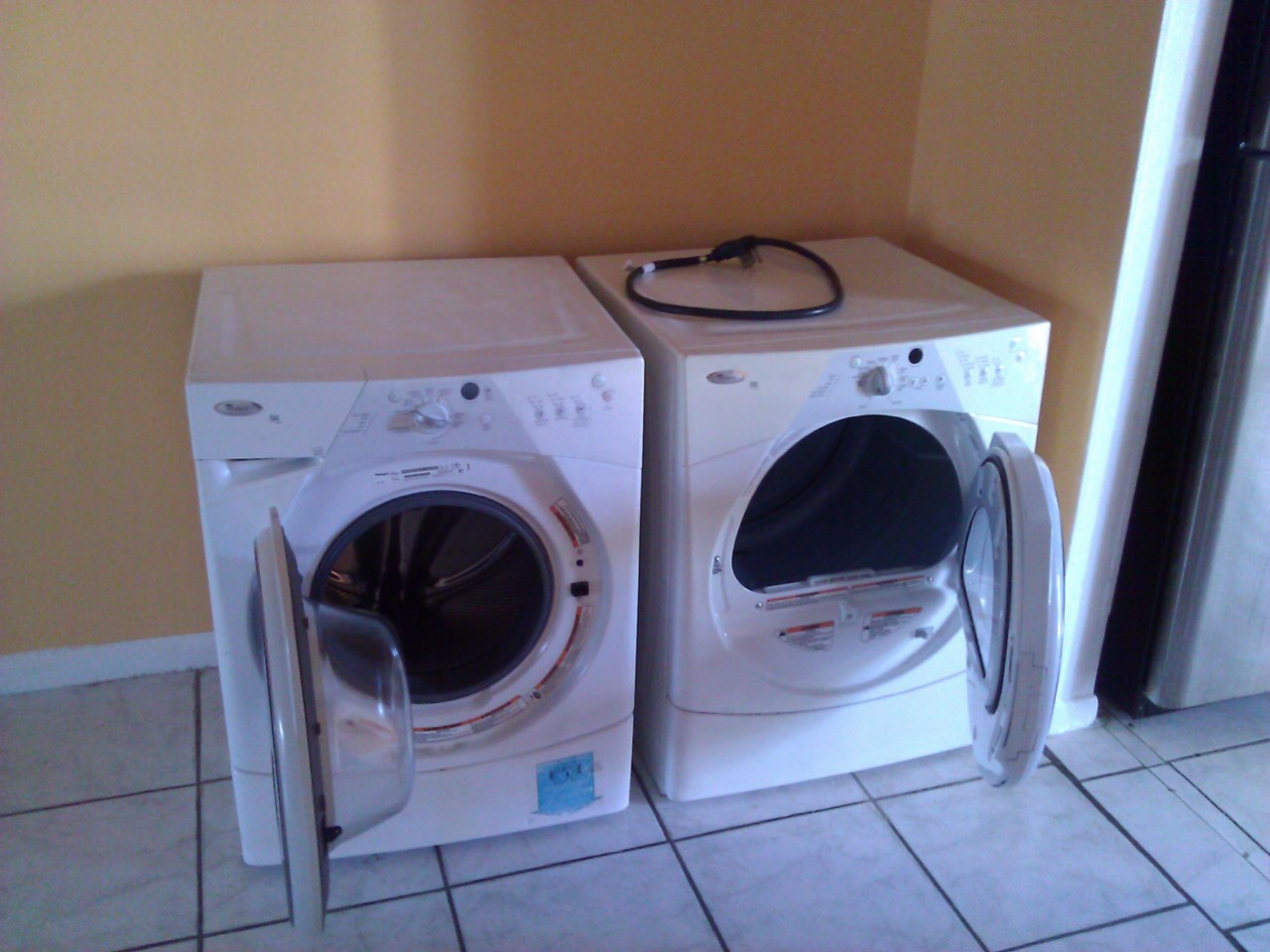 Whirlpool duet washer dryer set front load stackable ebay - Whirlpool duet washer and dryer ...