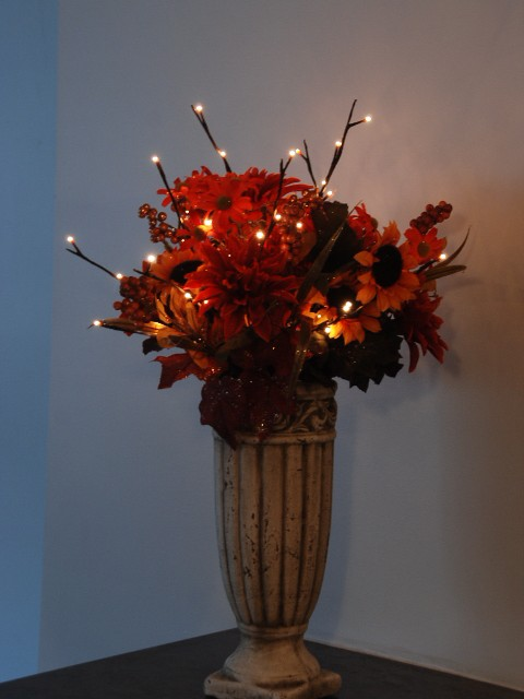 Shelley B Decor And More Lighted Floral Fall Arrangement