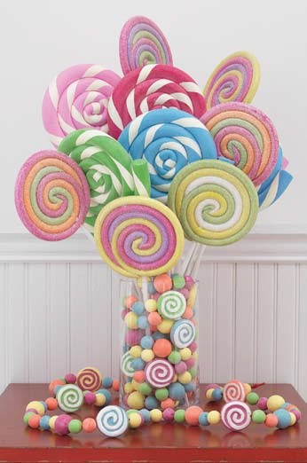 2 sets of 215 inch lollipops - Lollipop Christmas Decorations