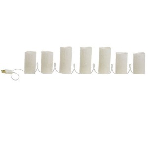Electric Candle String Lights : NEW RAZ WP 7 Electric Pillar Candles White Beaded flameless candles 3116236 eBay