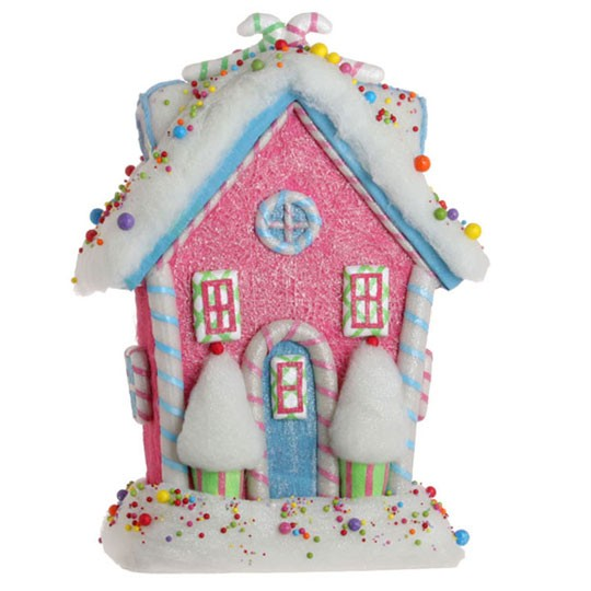 New raz in candy gingerbread house green christmas