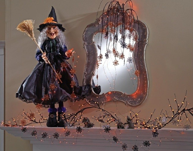 Witch large 54 inch sitting witch halloween decoration gg for 3 witches halloween decoration