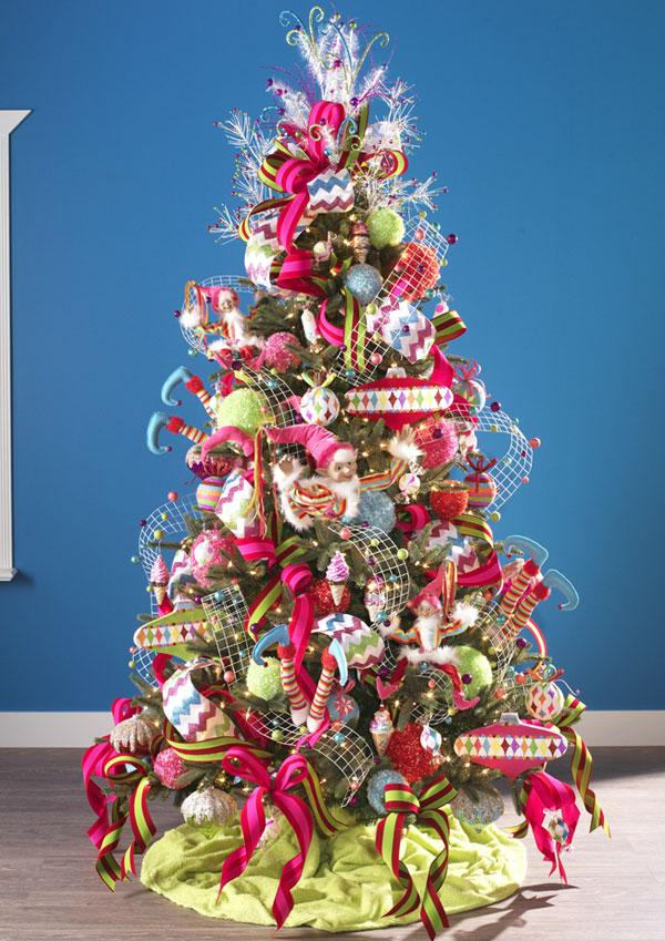 Raz decorated trees