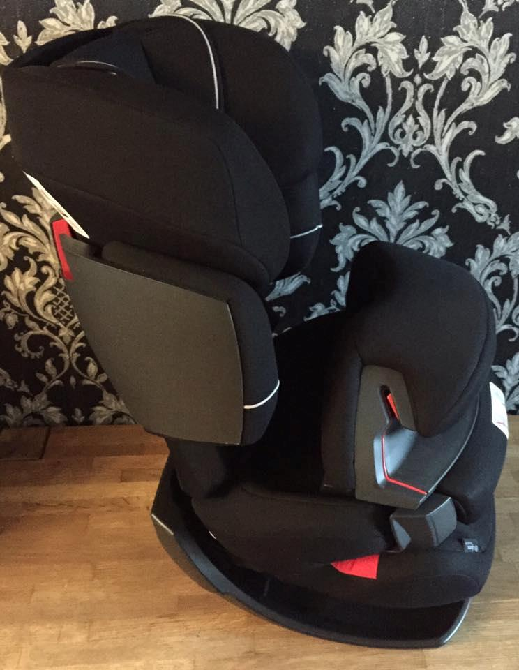 cybex silver pallas fix toddler car seat group 1 2 3 pure black black ebay. Black Bedroom Furniture Sets. Home Design Ideas