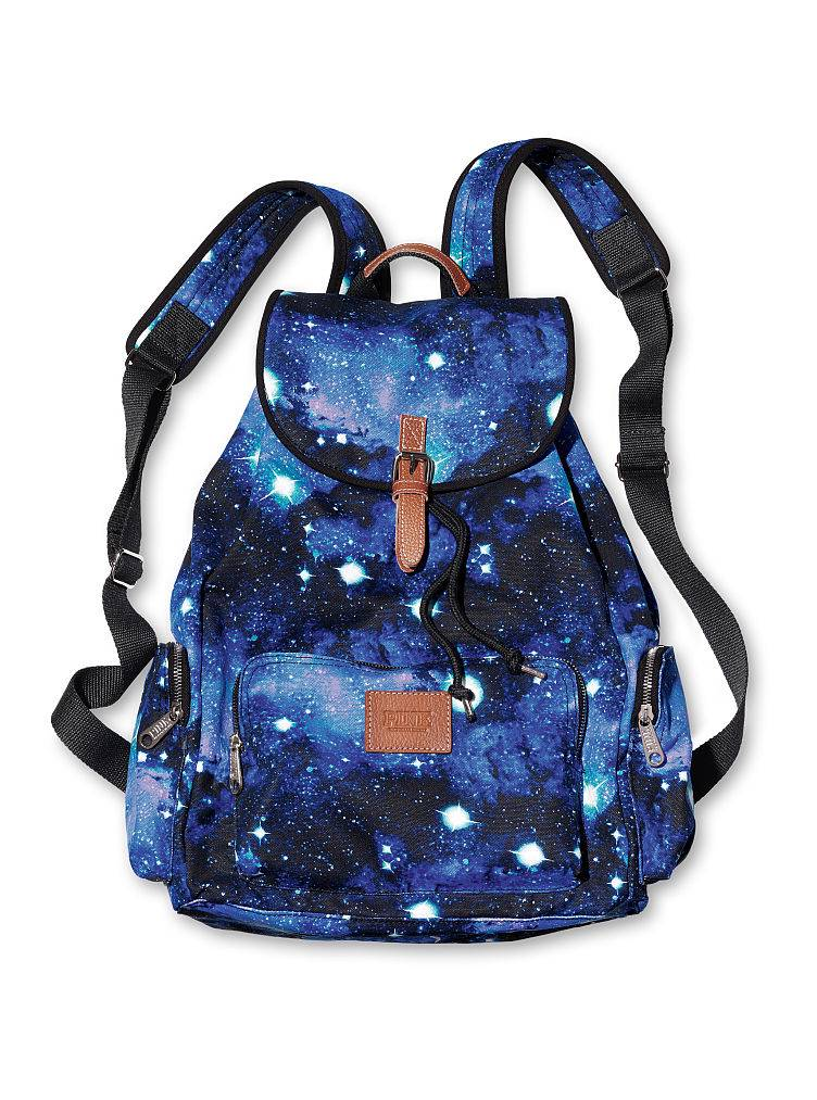 ... Secret Celestial Galaxy Cosmic Pink Backpack Tote Bag Carry-on Purse