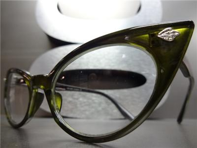 CLASSIC VINTAGE RETRO CAT EYE Style Clear Lens EYE GLASSES ...