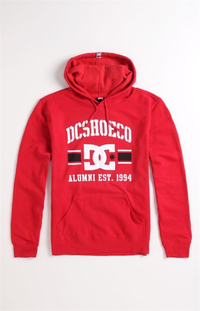 DC Shoes Rob Dyrdek Alumni Mens Red Hoodie Fleece Pullover