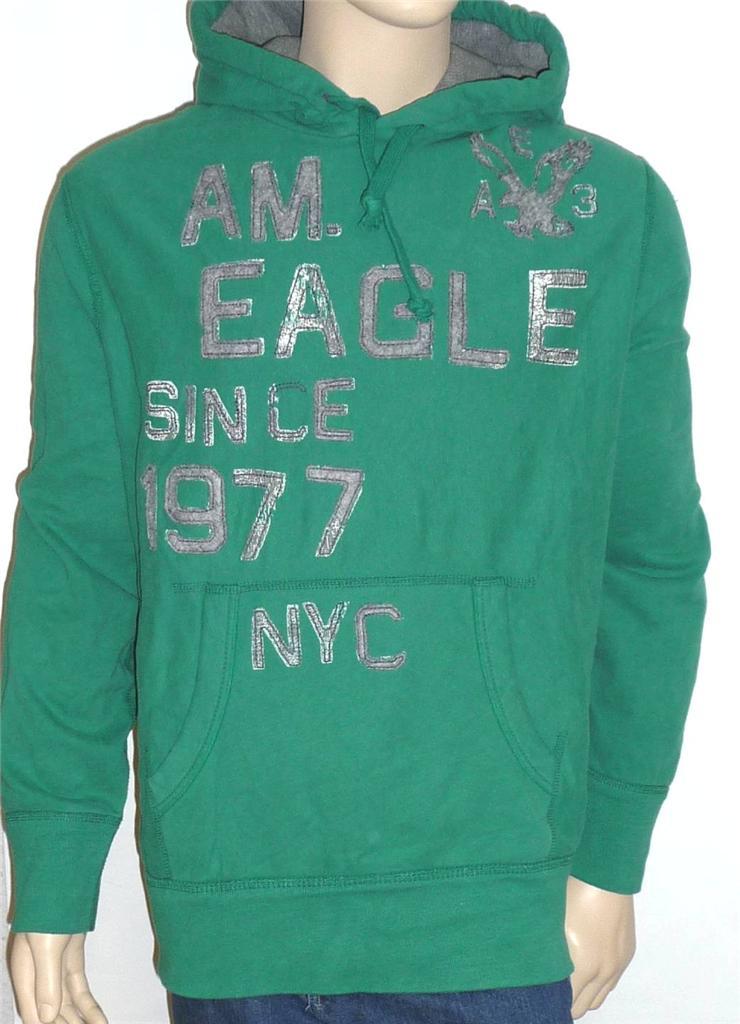 American Eagle Outfitters Mens Green Pullover Hoodie Sweatshirt Jacket New | EBay