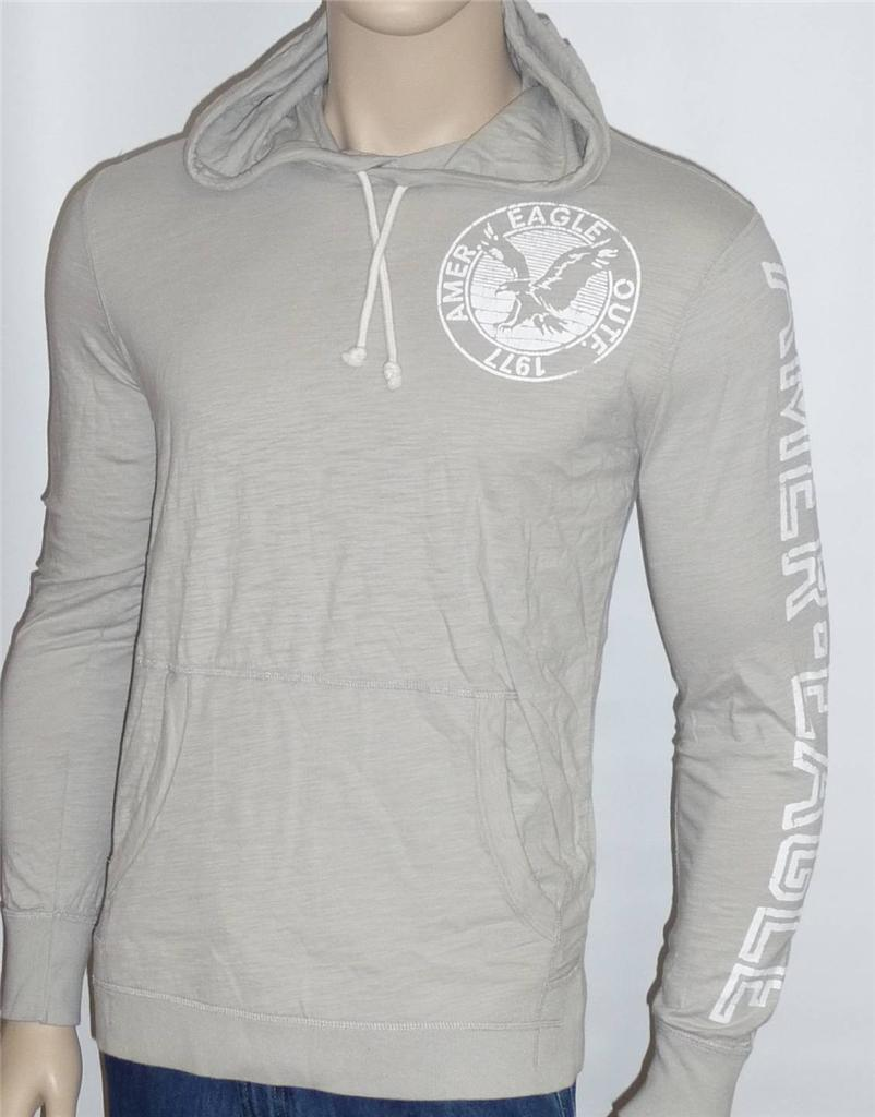 american eagle outfitters mens pale gray long sleeve