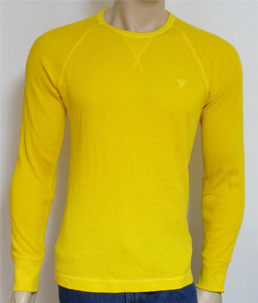 American Eagle Outfitters Aeo Mens Yellow Long Sleeve