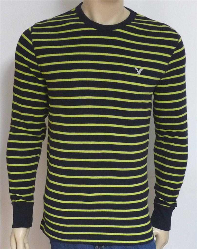 american eagle outfitters mens navy lime stripe long
